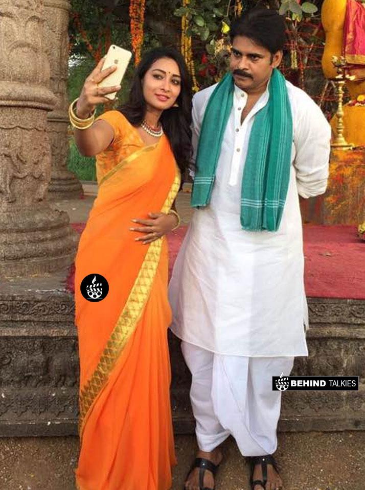 Bhanu Sri With Kalyan during Shooting SPot from Movie Katamaraidu