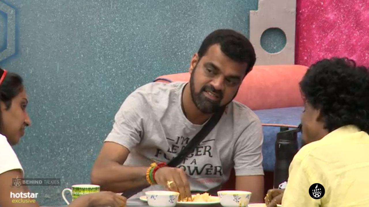 Dhadi Balaji with Nithya in Dinner