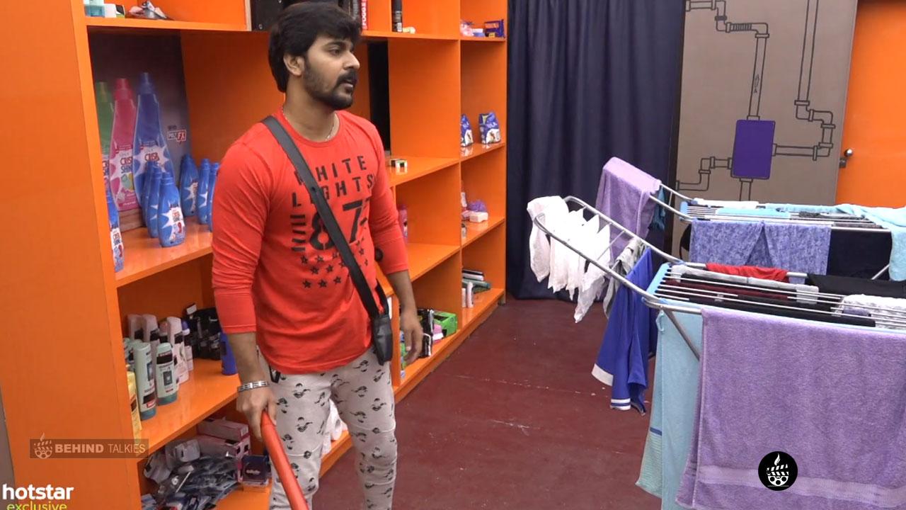Srinish Aravind In Bigg Boss Task