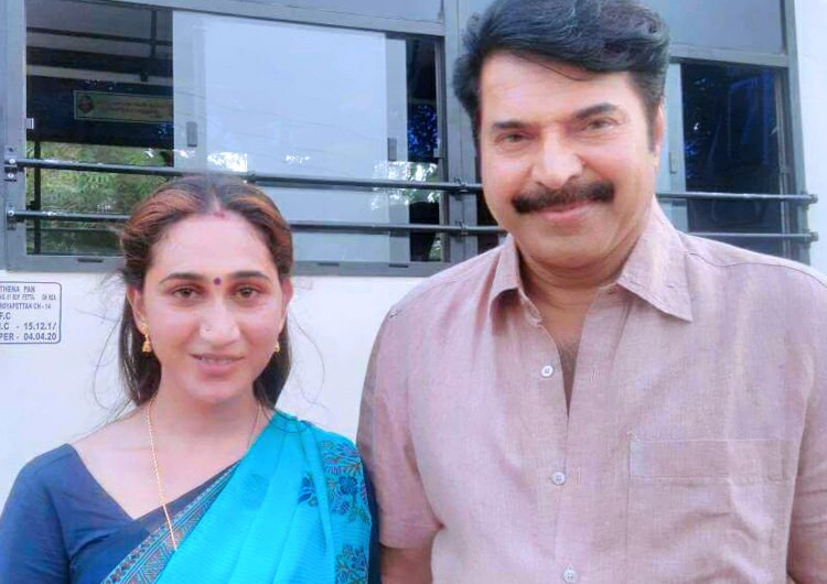Anjali Ameer with Mamotty
