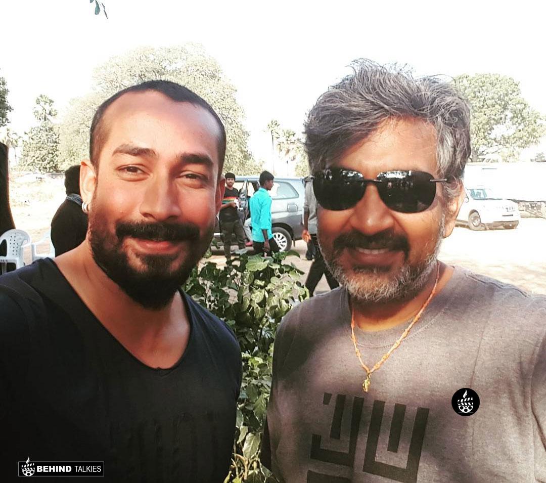 Actor Amit Tiwari with Bahuballi Fame Director Rajamouli