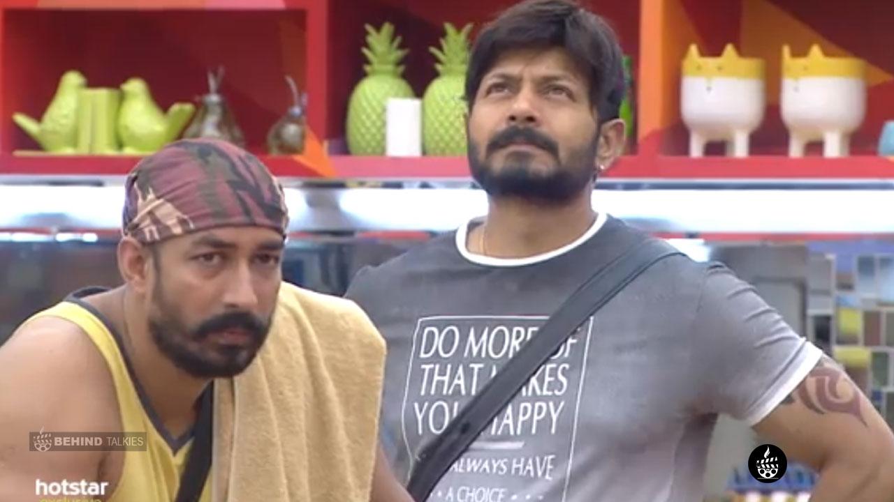 Amit Tiwari and Kaushal in Bigg Boss House