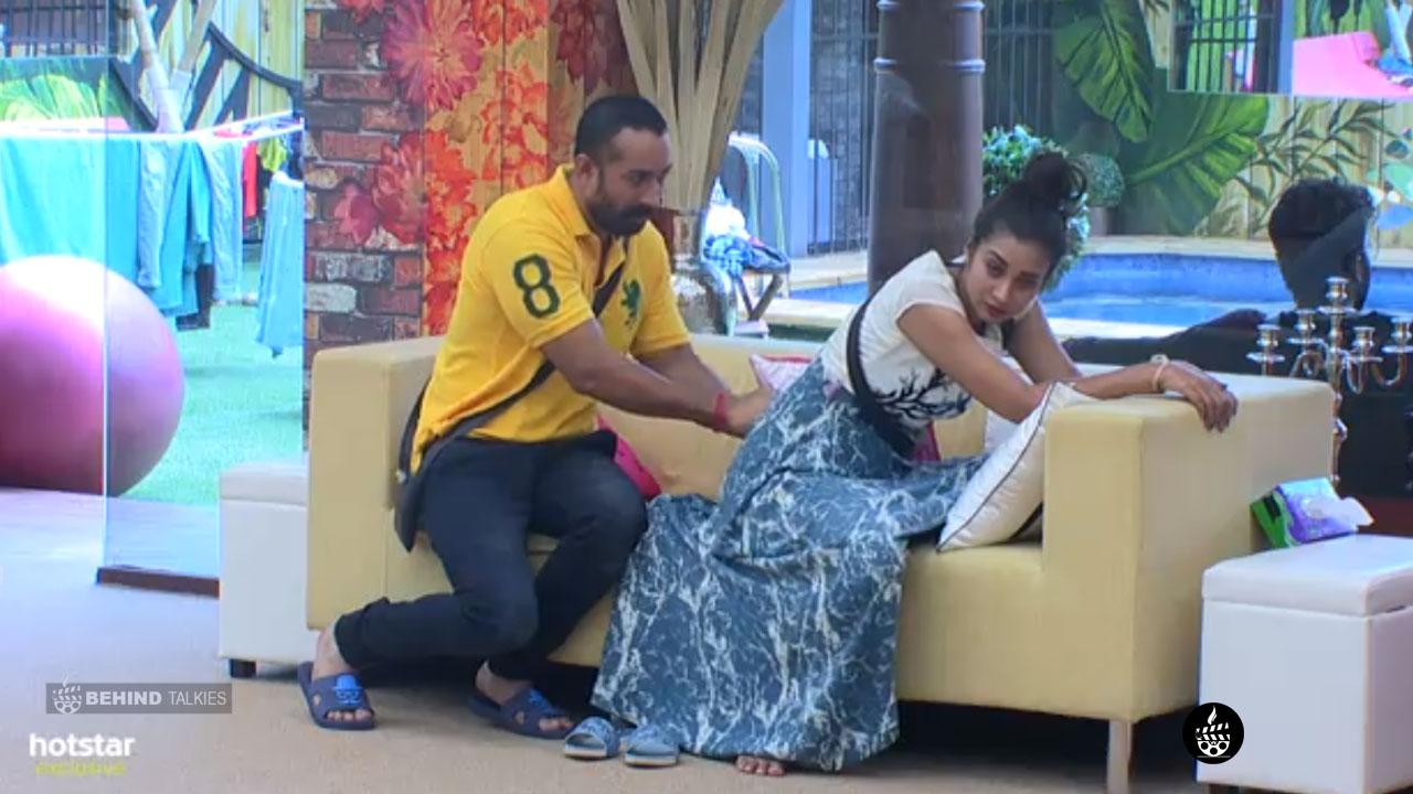 Amit Tiwari helping Banu in Bigg Boss House