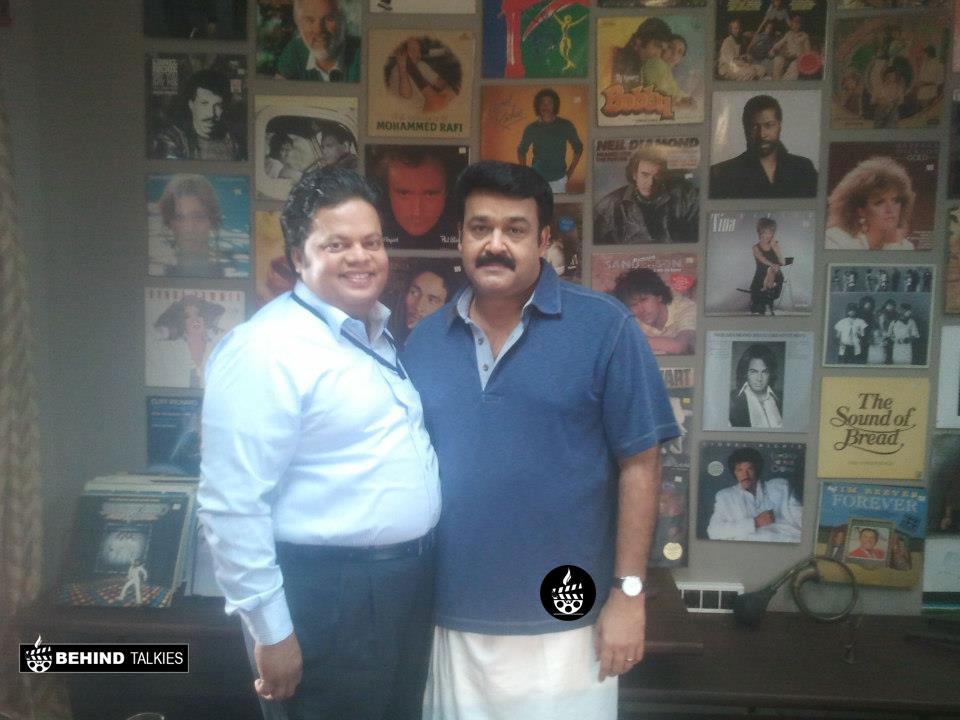 Anoop Chandran With Mohanlal