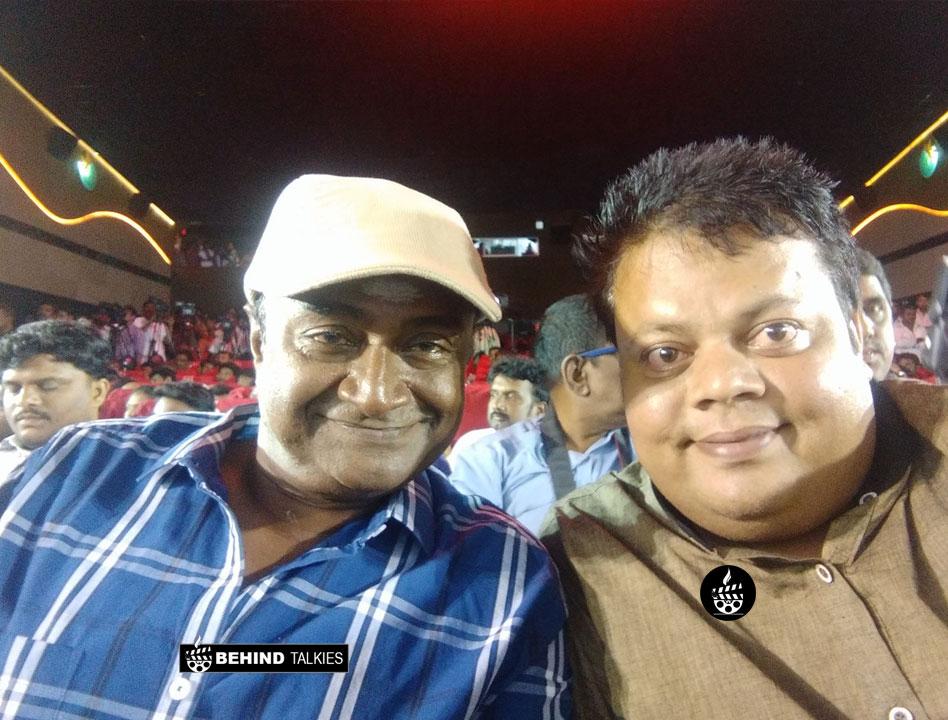 Anoop Chandran with Ms Bhaskar