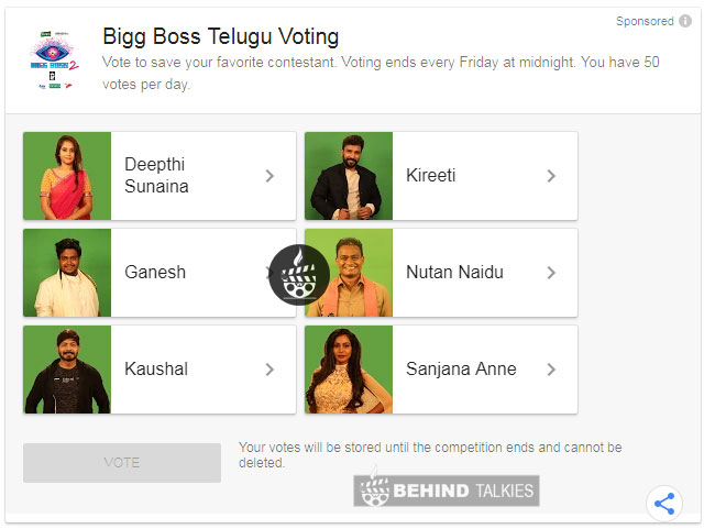 Bigg Boss-Vote Telegu Step 2