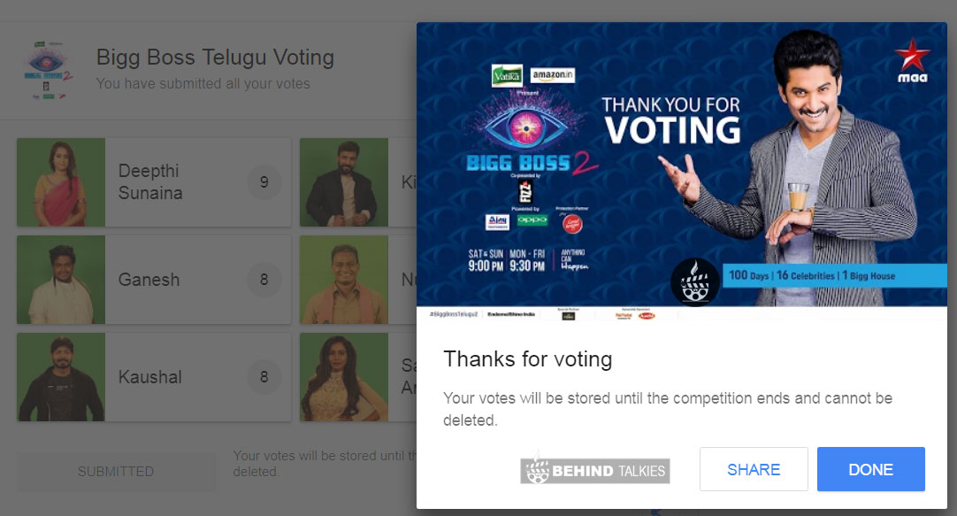 Bigg Boss Vote Telegu step 5