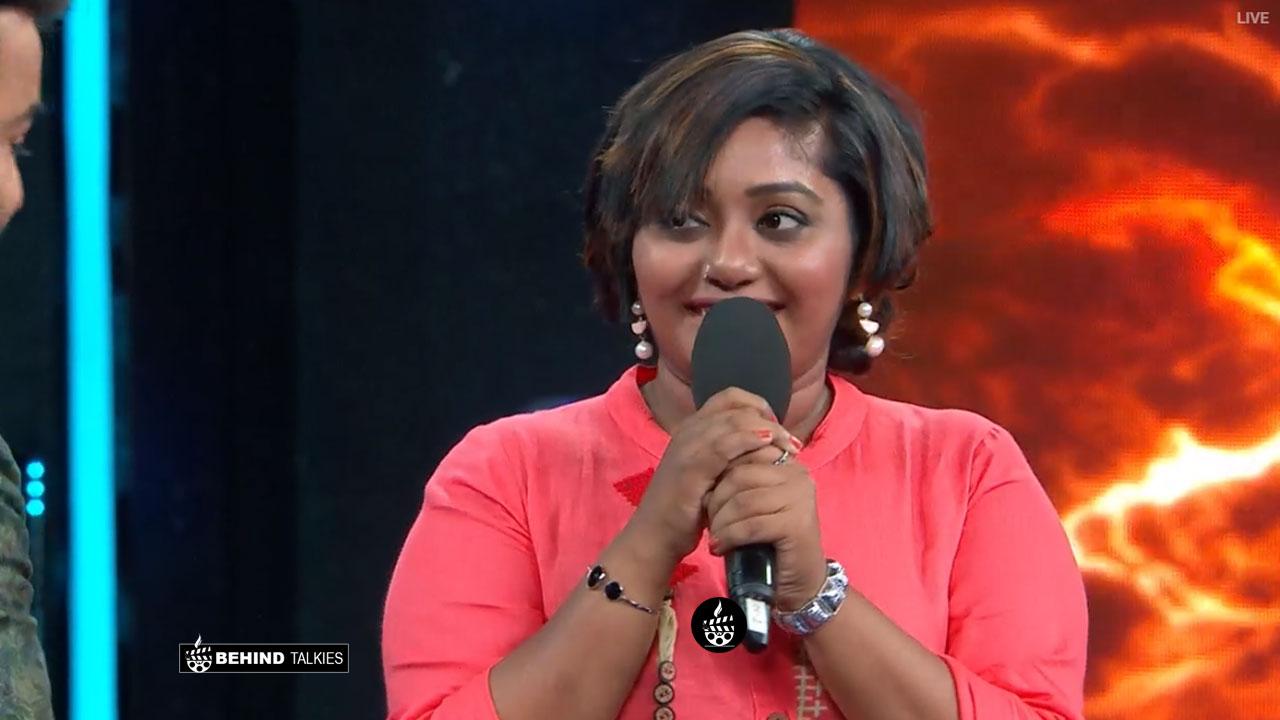 Hima chankar in bigg boss stage