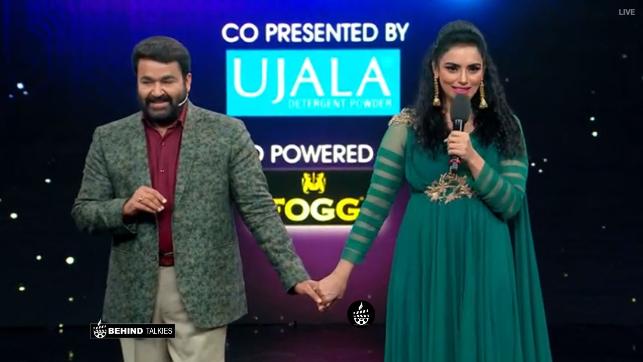 Swetha Menon with Mohan lal