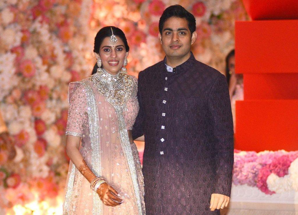 Akash Amabani with his Wife Sholka