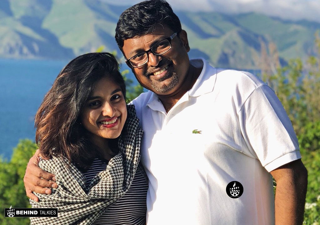 Nivetha Thomas With her Dad