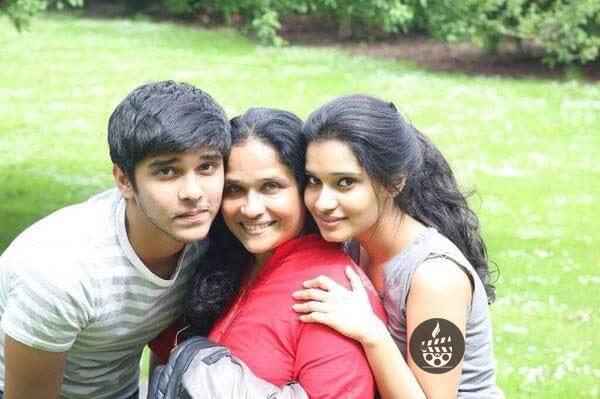 Shailaja Balakrishnan with her children