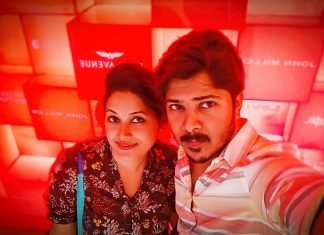 Dhanraj with his wife Shalini