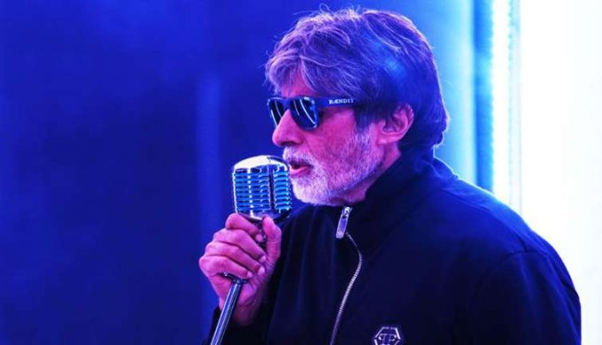 Photo of Bollywood Star Amitabh Bachchan Raps For 'Badla'.!