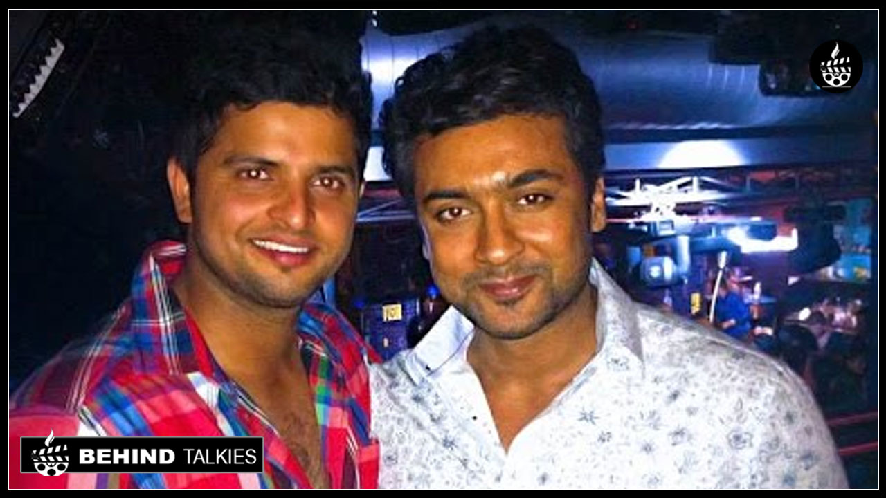 Photo of Suresh Raina with Actor Surya!